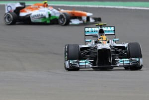 Lewis Hamilton fastest in German Grand Prix first practice