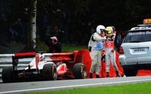 Hamilton says crash was his fault alone