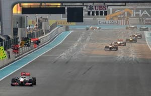 Hamilton wins Abu Dhabi Grand Prix