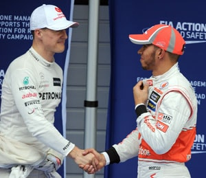 Lewis Hamilton's remark on Michael Schumacher accident raises eyebrows