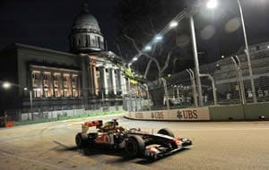 Hamilton tops opening practice in Singapore
