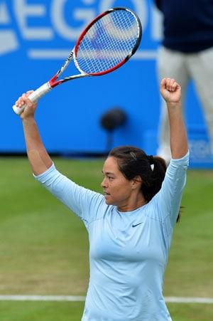 Qualifier Jamie Hampton to face Elena Vesnina in Eastbourne final