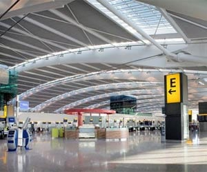London Heathrow airport unveils Olympic terminal