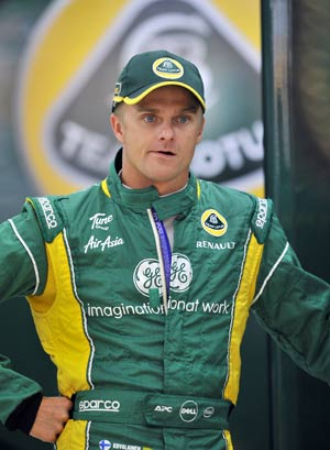 Heikki Kovalainen back for practice with Caterham