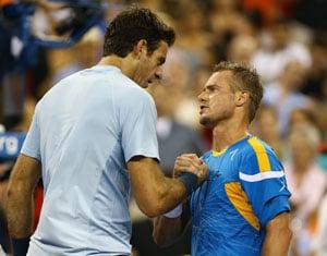 US Open: Lleyton Hewitt downs Juan Martin del Potro as magic returns