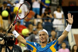 US Open: First round winners Lleyton Hewitt, Juan Martin del Potro on collision course