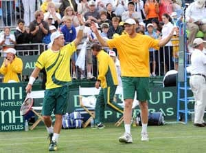 Davis Cup: Hewitt leads Australia to doubles win over Uzbeks