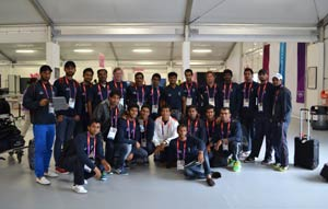 Indian hockey team arrives in Olympic Village