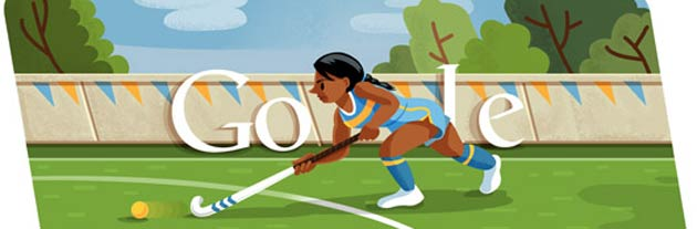 London 2012 Hockey is the latest Google Doodle
