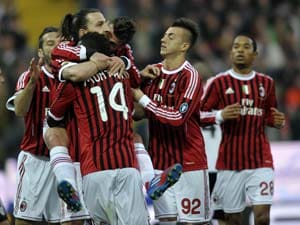 AC Milan maintain four-point lead over Juventus
