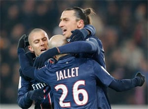 Ibrahimovic strikes again as emphatic PSG rout Evian