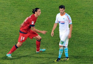 Andre-Pierre Gignac matches Zlatan Ibrahimovic as Marseille hold PSG