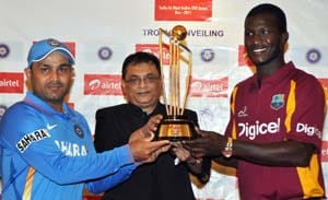 Trophy for India-West Indies ODI series unveiled
