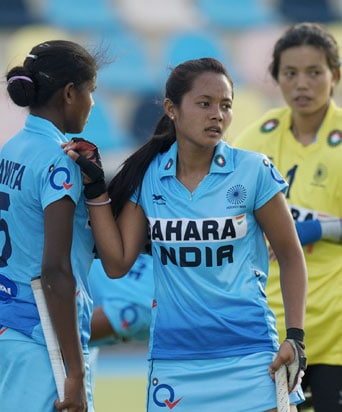 Indian Women's Junior Hockey Team Held by New Zealand
