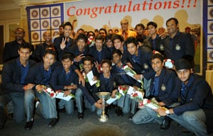 BCCI felicitates triumphant Under-19 World Cup squad