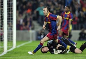 Barcelona midfielder Andres Iniesta fit to play