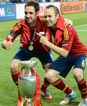 "Euro 2012: Iniesta and Spain ready to accept ""greatest"" mantle"