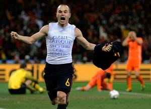Iniesta's vest goes on display at Espanyol stadium