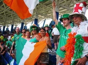 Euro 2012: Ireland fans in festive spirit before Spain clash