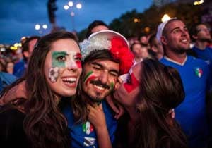 Italys night sparkles after win against Germany