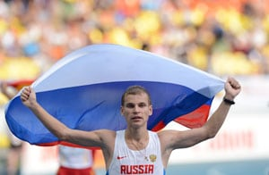 Aleksandr Ivanov delivers 20km walk gold for Russia at World Athletics Championships