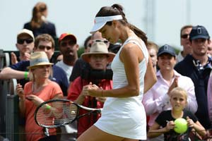 Ana Ivanovic enjoys Wimbledon tonic