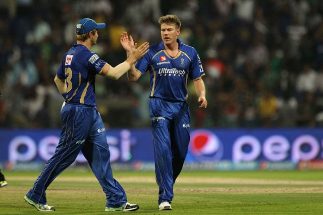 Live cricket score, James Faulkner