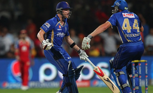 IPL 7 RCB vs RR, Highlights: Steve Smith, James Faulkner Steal Yuvraj Singh's Thunder in Thriller