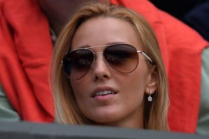 Wimbledon WAGS Jelena Ristic, Kim Sears in Centre Court spotlight