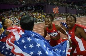 London 2012 Athletics: American women eclipse men in record relay run
