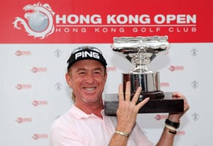 Miguel Angel Jimenez wins record-equalling fourth Hong Kong Open