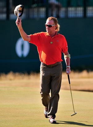 British Open: Survivor Miguel Angel Jimenez leads at halfway stage