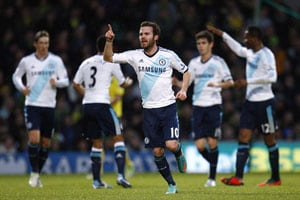 Thirteen proves lucky for Mata and Chelsea