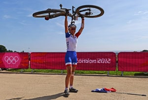 London 2012 Mountain Biking: Julie Bresset storms to women's gold