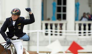 Germany beat Britain to eventing title