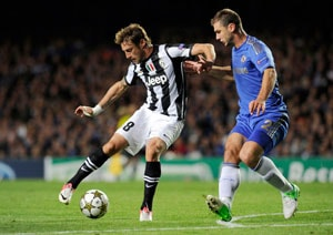 Juventus stun Champions League holders Chelsea with a draw