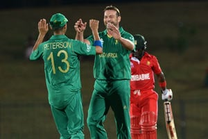 World T20: South Africa seal 10-wicket win against Zimbabwe
