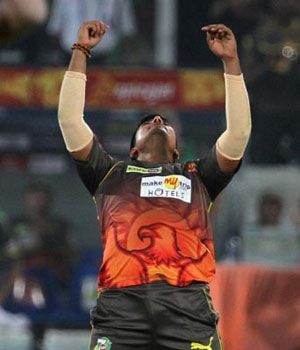 File photo of Karn Sharma playing for the Sunrisers Hyderabad in the Indian Premier League