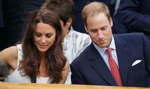 William and Kate at Wimbledon to support Murray