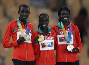 Kenya sweep medals at worlds opening day