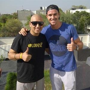 Kevin Pietersen meets Yuvraj Singh at his Gurgaon residence