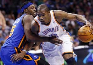 Thunder rout Carmelo-less Knicks 104-92
