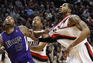 Kings beat Blazers 95-92 as Thornton scores 20