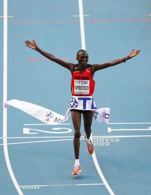 World Athletics Championships: Stephen Kiprotich wins men's marathon title