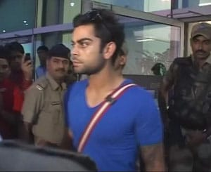 MS Dhoni & Co. return from Sri Lanka