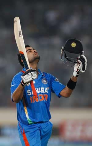 Kohli's ODI century in Australia voted as best of 2012