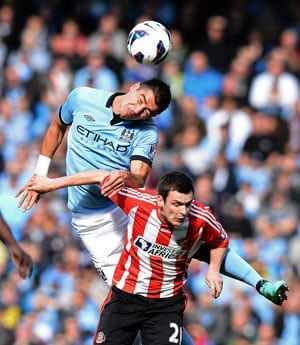 Sergio Aguero repays Mancini's faith as Manchester City cruise