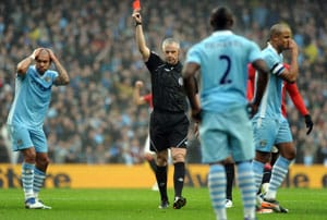 Manchester City appeal against Kompany's red card
