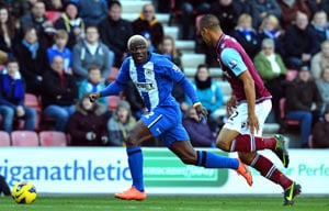 Wigan beats West Ham 2-1 in Premier League