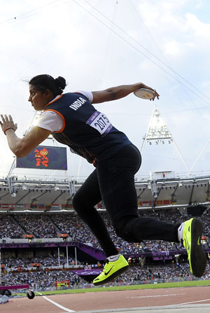 London 2012 Athletics: Krishna Poonia qualifies for discus throw final, Antil out